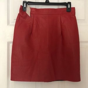NWT American Apparel Red Leather Mini Skirt!